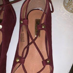 Halogen Shoes - Halogen Lace up Flats